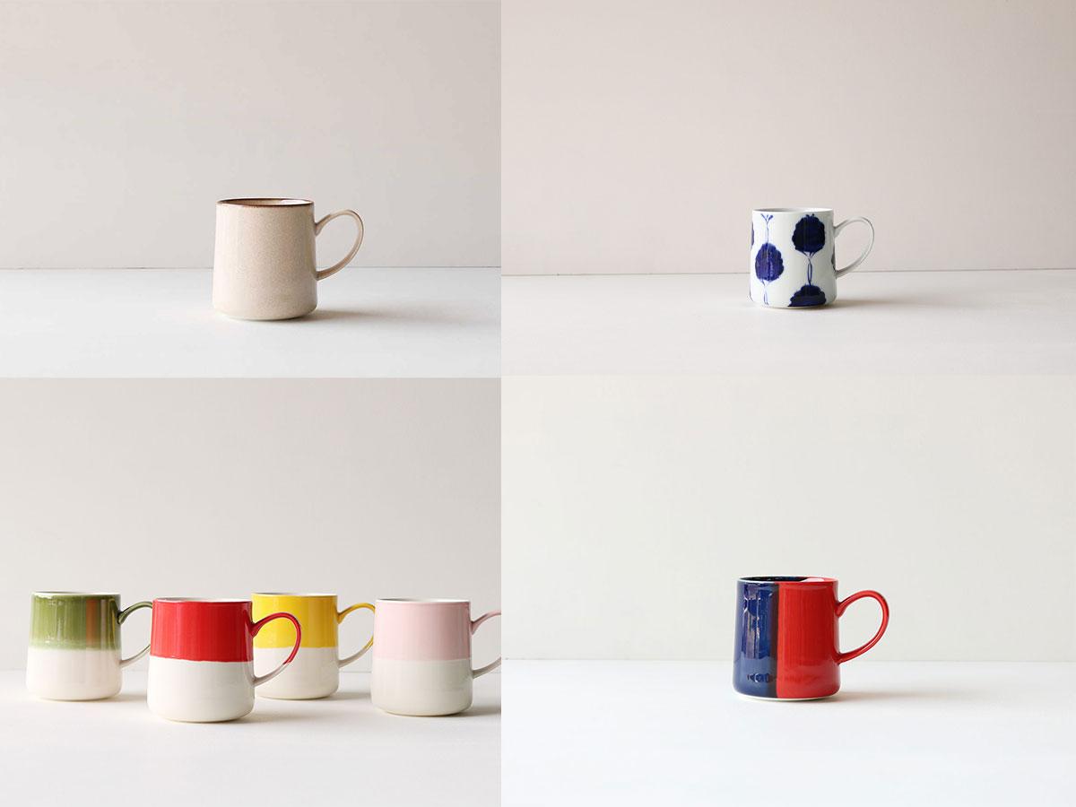 同じ形のマグカップ