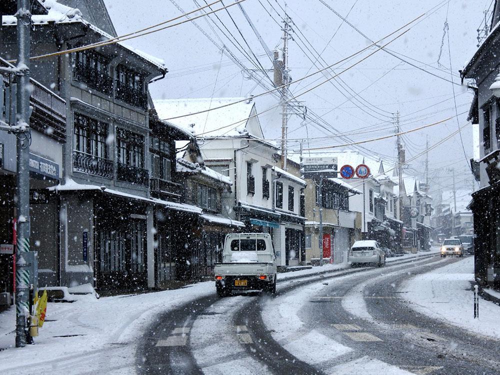 雪の有田町
